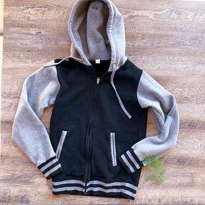 Black & Grey Zip Up Hoodie